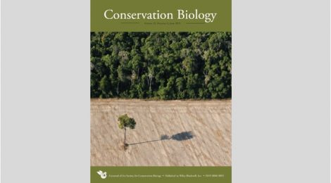 Our work is on the cover of Conservation Biology